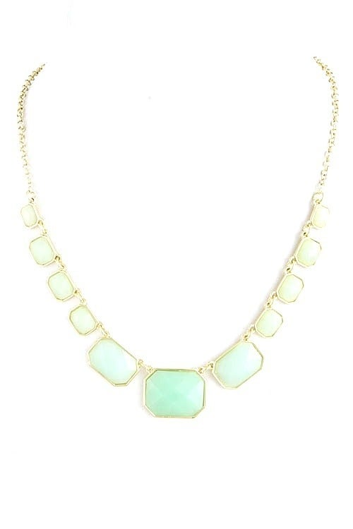 Image of Ombre Gem Strand Necklace