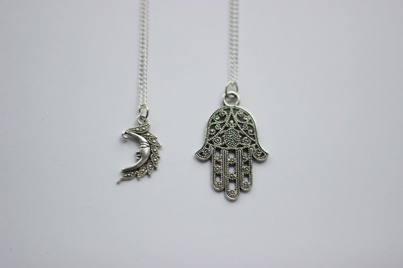 Image of Silver plated charm necklace *NEW*