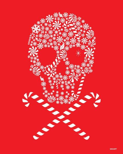Image of Candy Skull Silk Screen Print