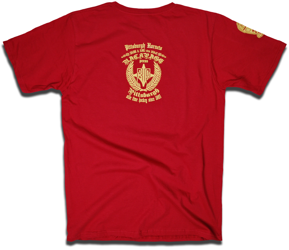 Image of Pittsburgh Hornets custom 1936 hockey tee by Backpage Press