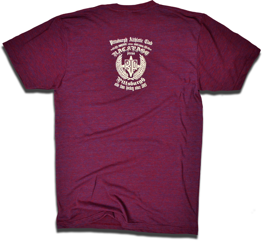 Image of Pittsburgh Athletic Club custom 1901 hockey tee by Backpage Press