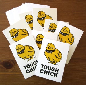 Image of Tough Chick Greeting Cards