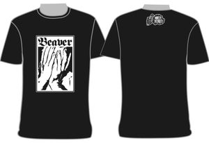 "Image of ""Beaver"" On The Record T-Shirt $10 + Postage"