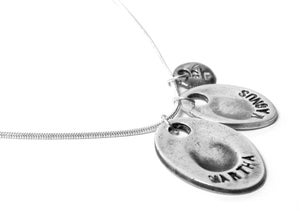 Image of fingerprint necklace