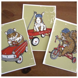 Image of 3 Pack Critter Card Set - Squirrel, Hamster, Bunny