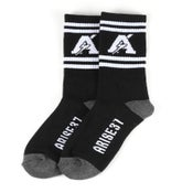Image of Thunder Socks- Black/White