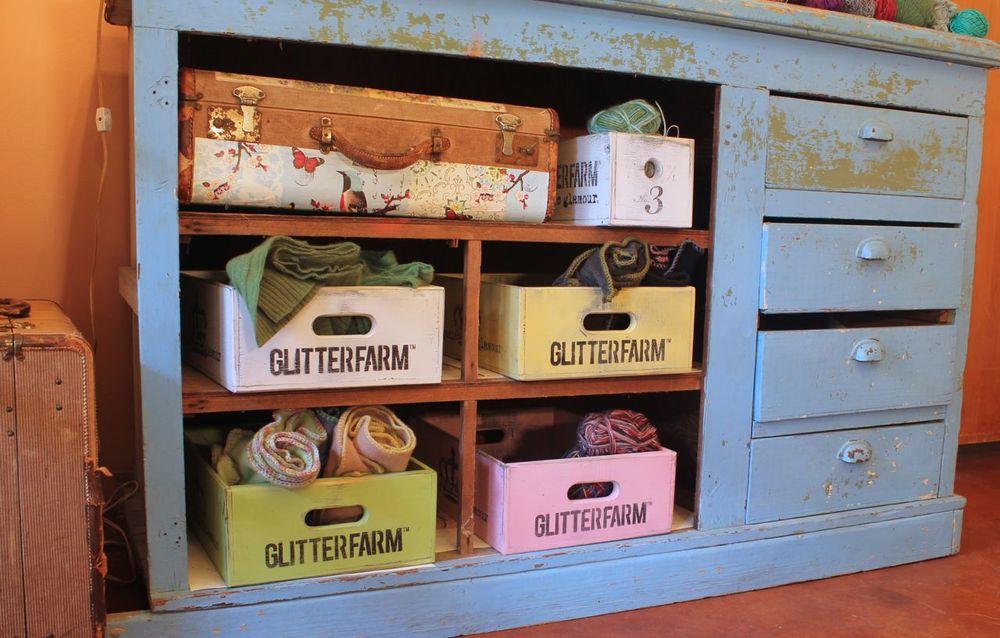Image of Handmade Glitterfarm Crates - Classic