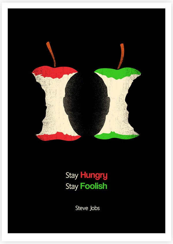 Image of Stay Hungry Stay Foolish- Color Version