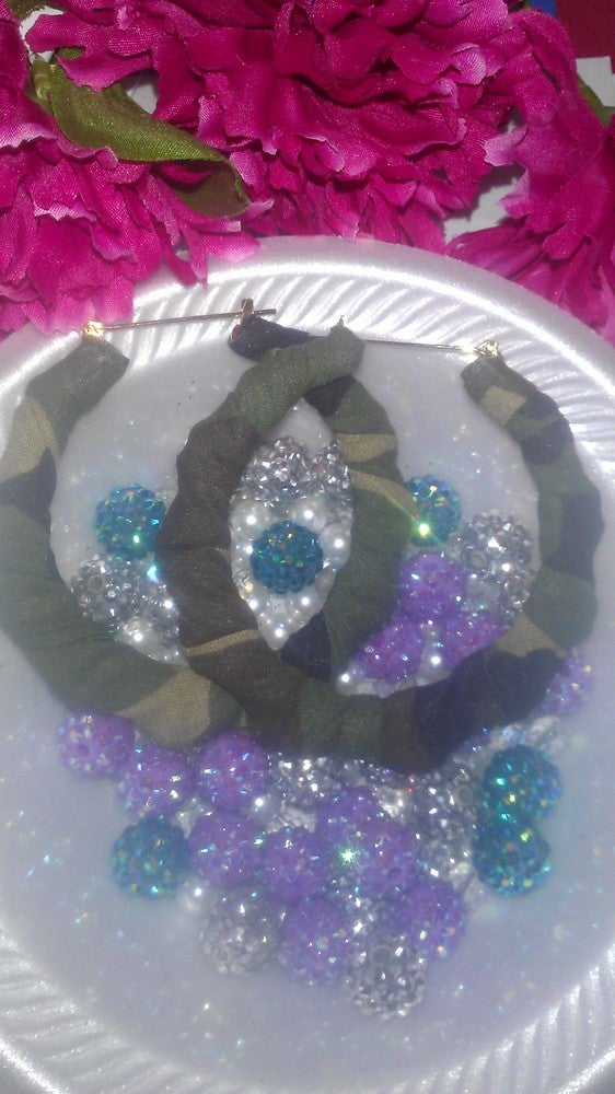 Image of Army Bamboo Earrings