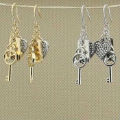 Image of MK EARRINGS #KEY&HEART