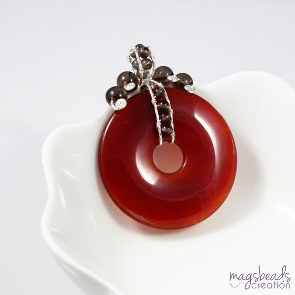 wire wrapped pendant donuts - photo #34