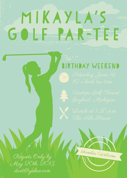 Image of Golfing (Tee) Invitation (Boy or Girl)