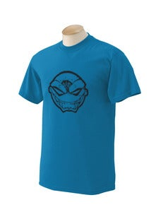 Image of Blue Maniacal Smile Iconic Head T-Shirt