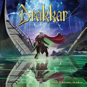 """Image of DRAKKAR """"When Lightning Strikes"""" digiCD/CD"""