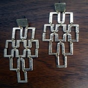 Image of Long Multi Cube Earrings