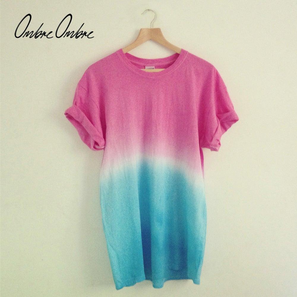 Pink Blue T-Shirt / Ombré.