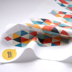 Image of Fabric Panel - Triangle Hot Air Balloon