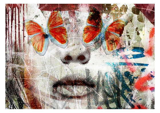 "Image of ""Butterfly Eyes"" OPEN EDT PRINT on 315gsm 100% Cotton Rag Paper"