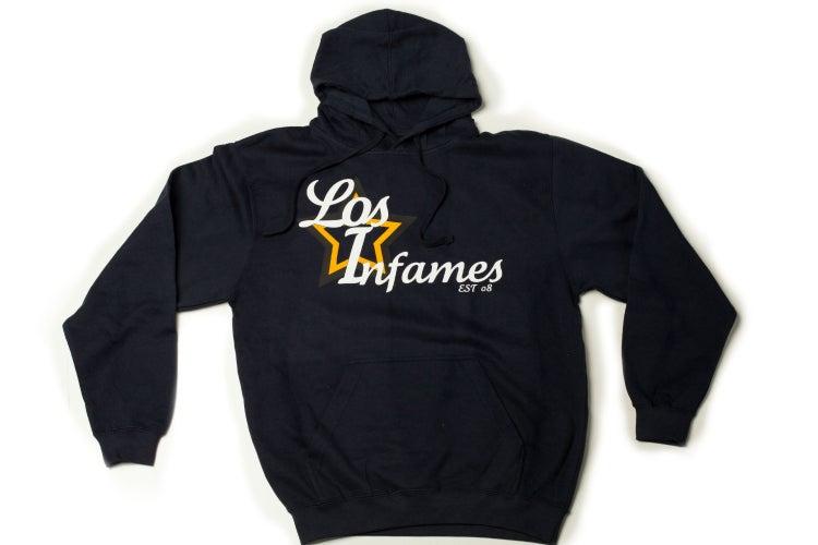 Infamous Quot Los Infames Quot Navy Hoodie Infamous Boutique
