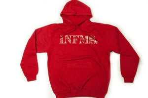 "Image of Infamous ""INFM$"" Gold and Cardinal Hoodie"
