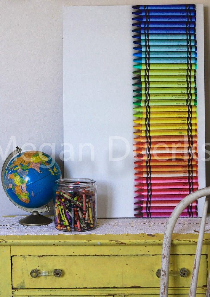 Image of Rainbow Crayons Canvas