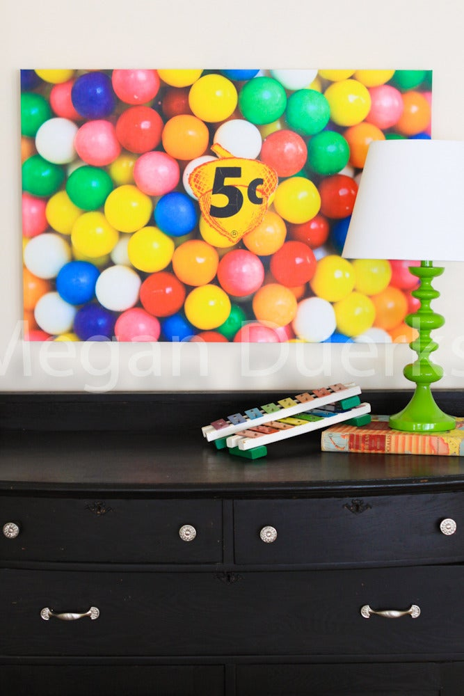 Image of 5¢ Gumballs Canvas