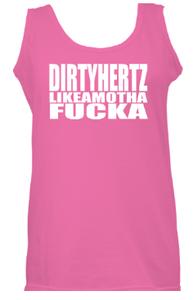 Image of DIRYHERTZLIKAMOTHAFUCKA Pink Tank Top
