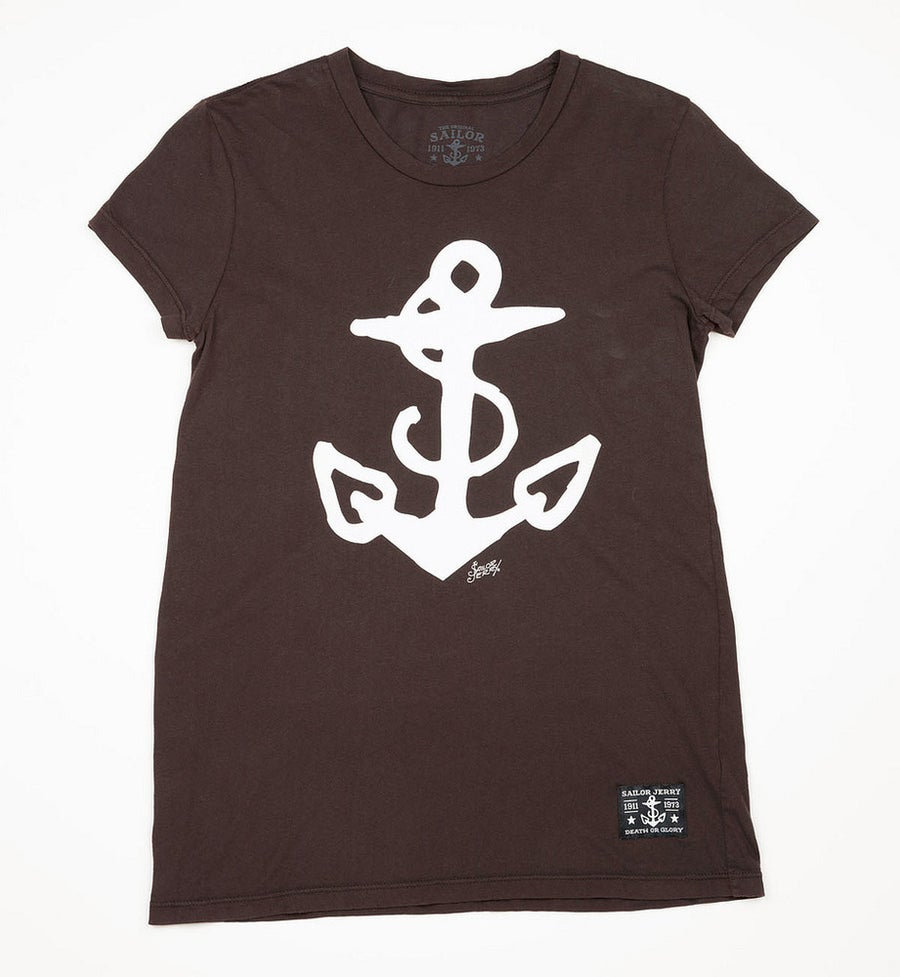 Image of Sailor Jerry Women's Tee - Anchor (Black)