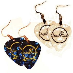 Image of CrashFuse Logo Earrings
