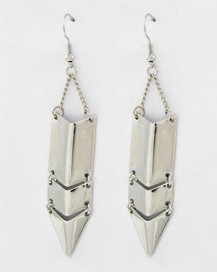 Image of Silver Shield Earrings