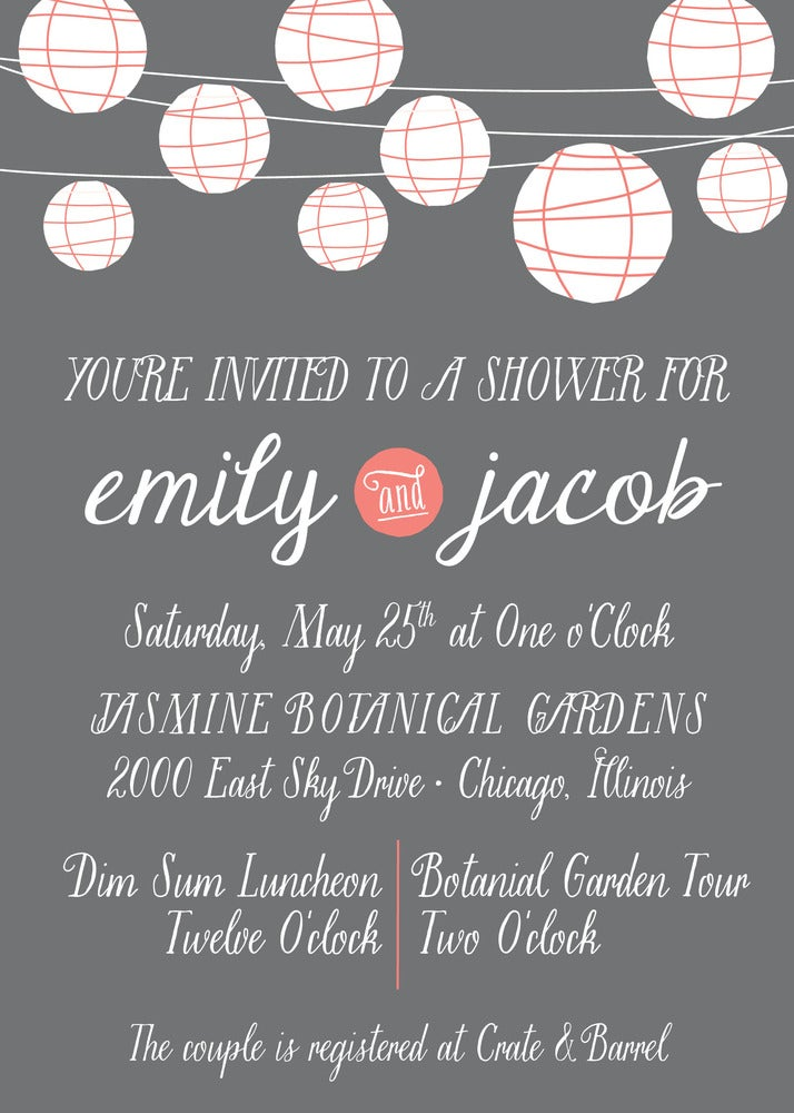 Image of Paper Lantern Invitation