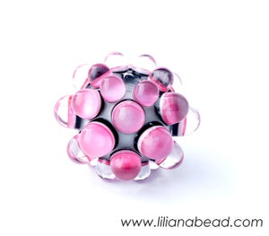 Image of Pink Berry Extraordinaire Focal Glass Bead