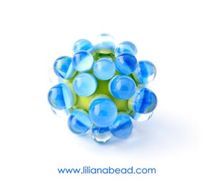Image of Green & Blue Berry Extraordinaire Focal Glass Bead