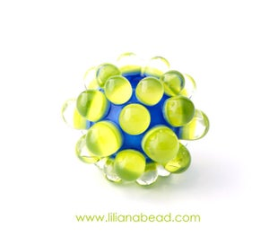 Image of Blue & Green Berry Extraordinaire Focal Glass Bead