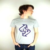 Image of Bullet Train - Light Grey T - Purple Logo