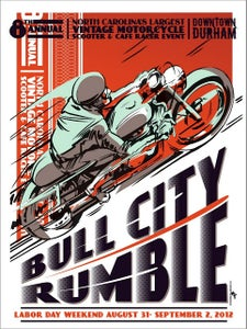 "Image of Bull City Rumble 8 Small Event Poster 11""x17"""