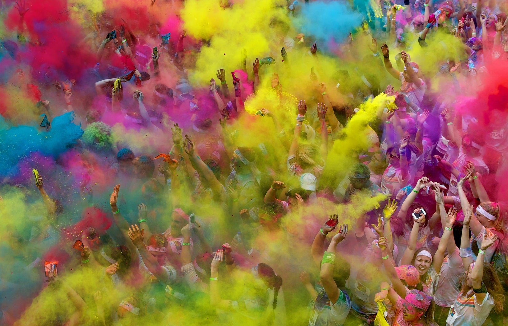 Holi In Pushkar: A Celebration of Color | Where and Wander |Color Powder In Air