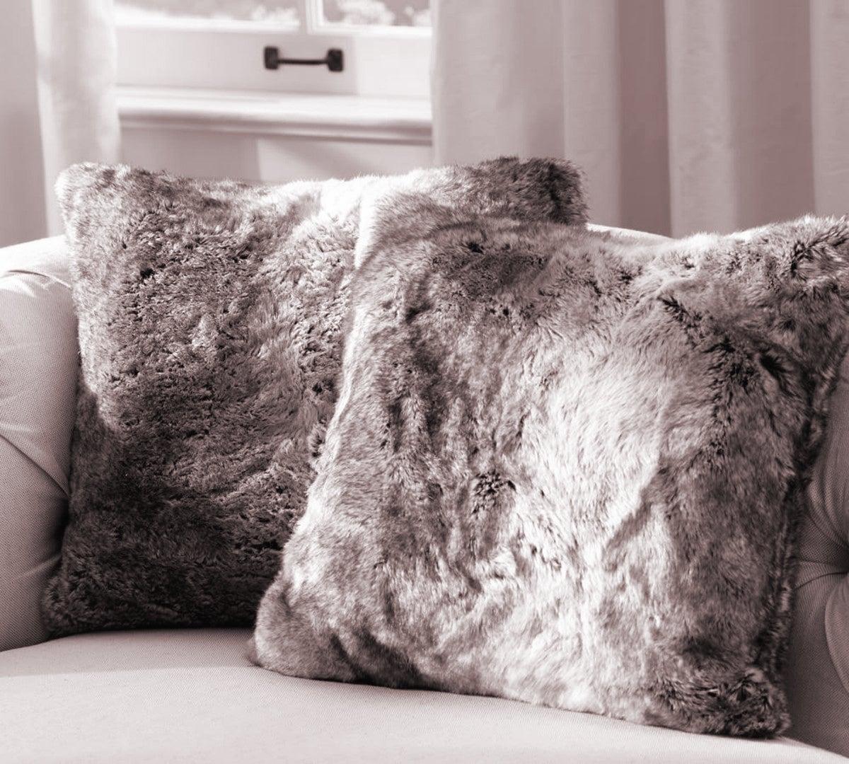 100 faux fur cushions and throws zinc faux fur cushion luxd