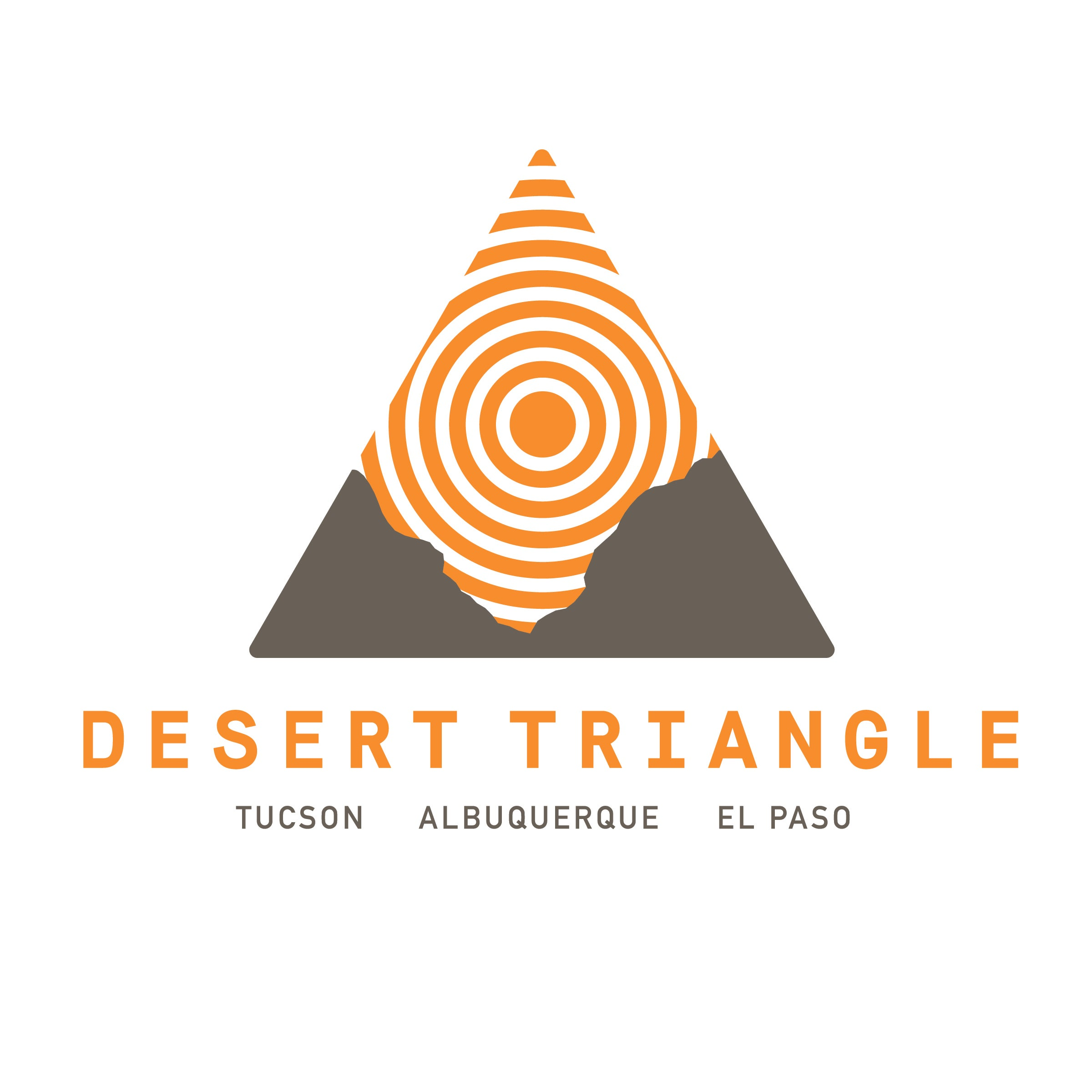 Desert Triangle Print Carpeta