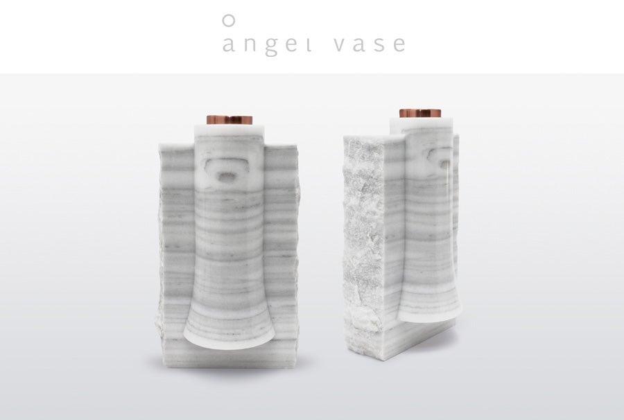 Angel Marble Vase