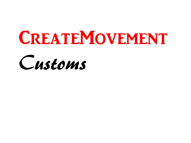 CreateMovement Customs