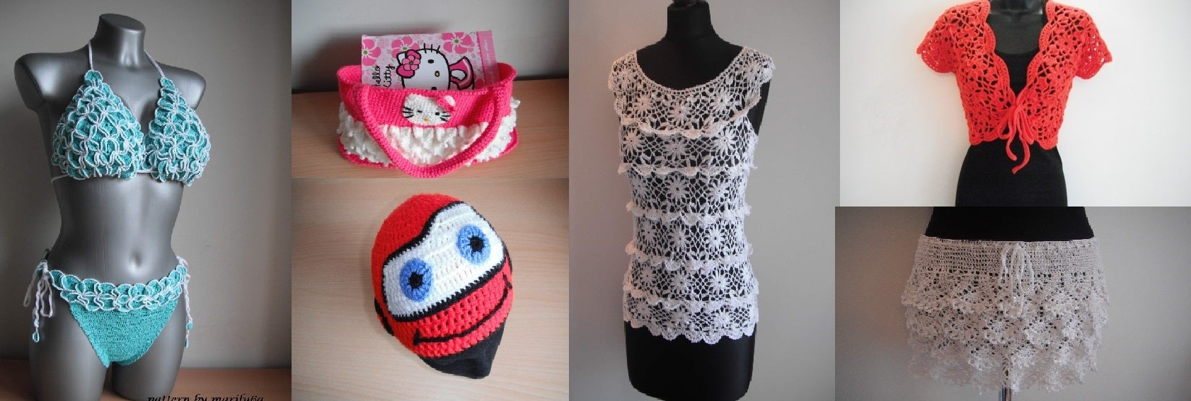 Crochet Patterns and free video tutorials by Marifu6a http://www.artfire.com/ext/shop/home/marifu6a